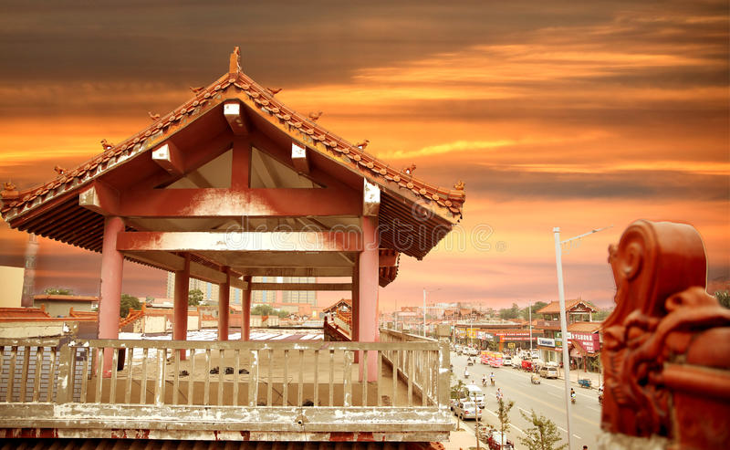 L'architecture antique de la Chine image libre de droits