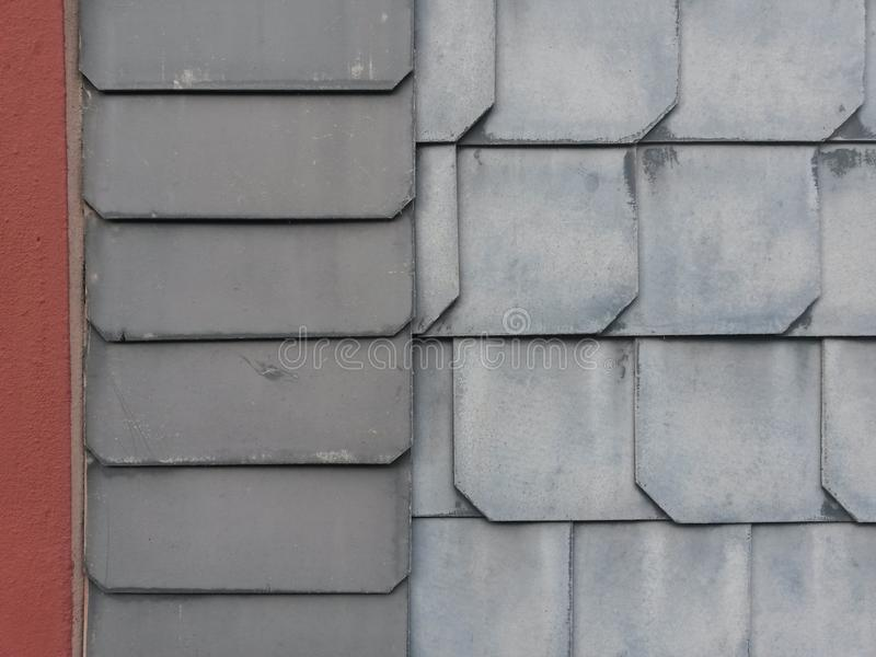 L'architecture détaille l'ardoise de Siegerland photographie stock