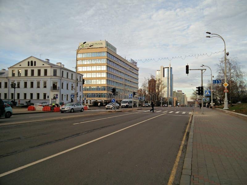 L'architecture de Minsk photo libre de droits