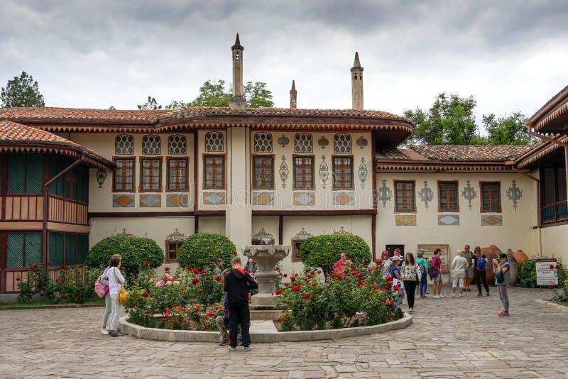 L'architecture du palais tatar criméen du ` s de Khan photos stock