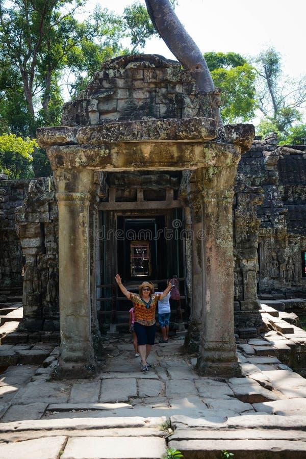 L'architecture du temple de Phrom de ventres dans Siem Reap, Cambodge photographie stock libre de droits
