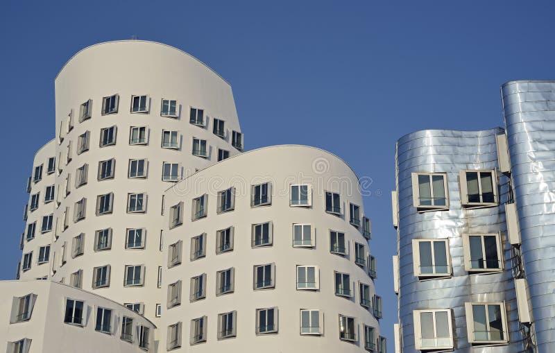 L'architecture typique à Dusseldorf en Allemagne photographie stock libre de droits