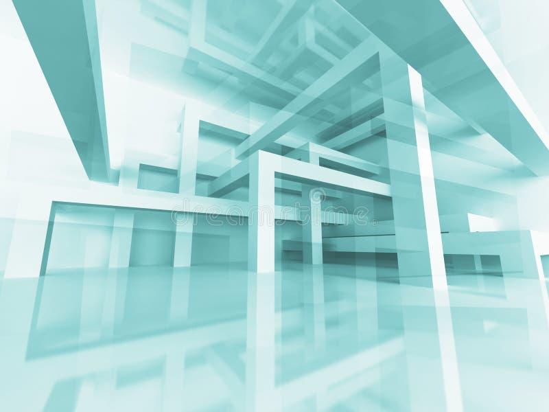 L'architettura astratta ha rinforzato il fondo della struttura della costruzione royalty illustrazione gratis