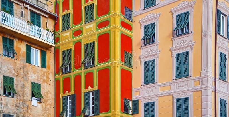 L'architettura di Santa Margherita di Ligure in Italia caratterizza la bellezza ed il carattere del Mediterraneo fotografia stock libera da diritti