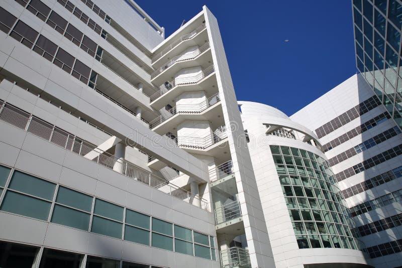 L'architettura moderna di nuovo municipio di L'aia Progettato dall'architetto americano Richard Meier nel 1986 fotografia stock libera da diritti