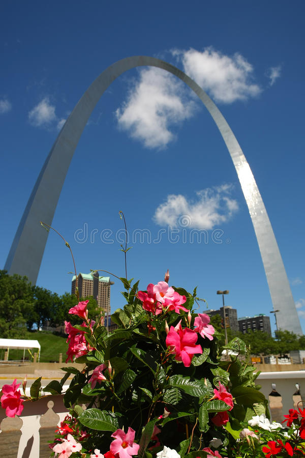 L'arco del Gateway a St. Louis, Mo fotografie stock