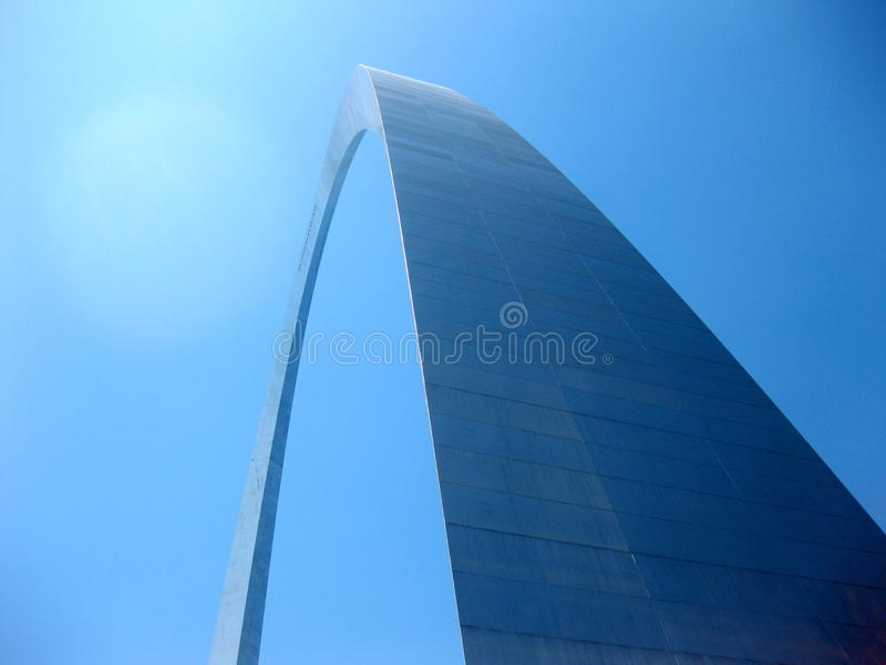 Arco dell'ingresso a St. Louis Missouri fotografia stock