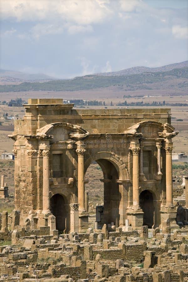 L'arco di Trajan fotografie stock libere da diritti