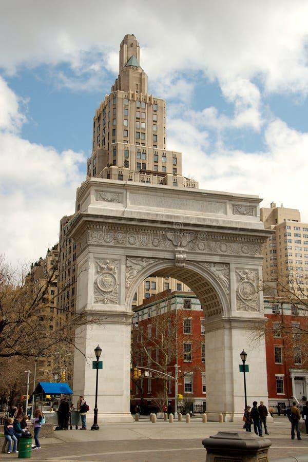 L'arco a Washington Square Park, Greenwich Village fotografia stock libera da diritti