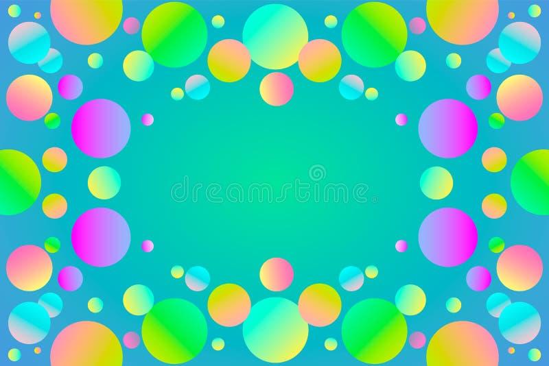 L'arcobaleno colora il fondo lucido delle palle Illustrazione di vettore royalty illustrazione gratis