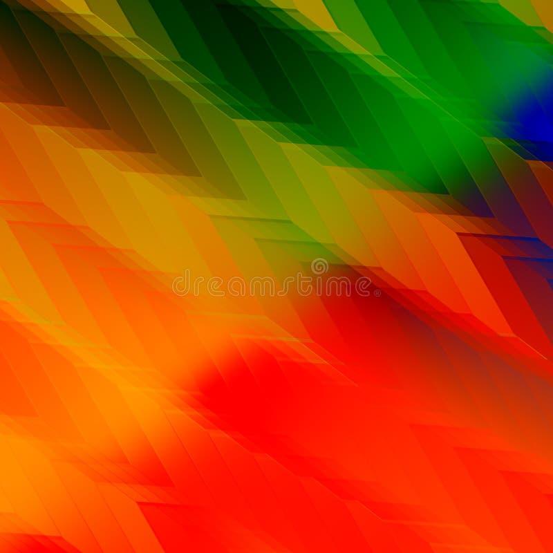 L'arcobaleno variopinto colora il fondo Progettazione alla moda artistica Reticolo astratto di colore Illustrazione moderna per l illustrazione vettoriale