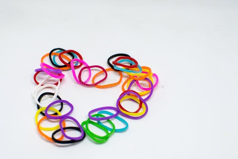 L'arcobaleno variopinto del fondo colora il telaio degli elastici fotografia stock libera da diritti
