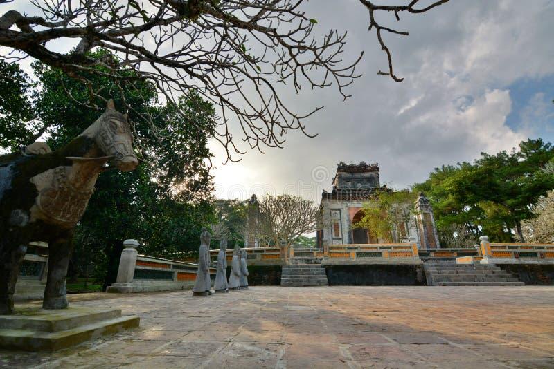 L'area della tomba Tomba del Tu Duc Hué vietnam fotografia stock