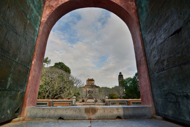 L'area della tomba Tomba del Tu Duc Hué vietnam immagine stock libera da diritti