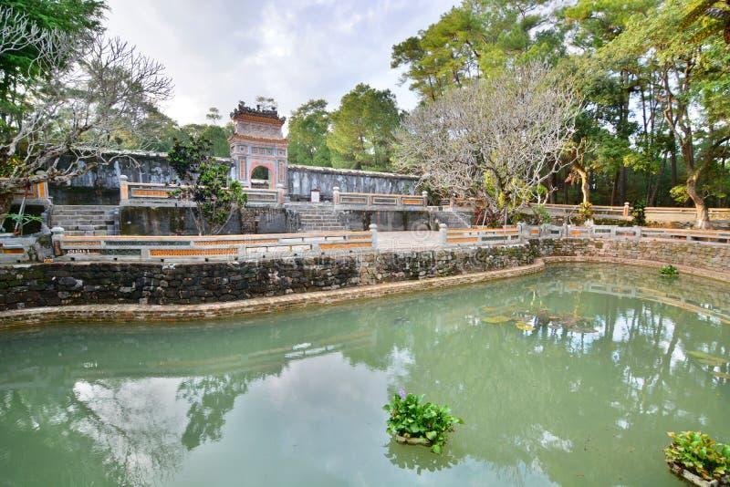 L'area della tomba Tomba del Tu Duc Hué vietnam fotografia stock libera da diritti