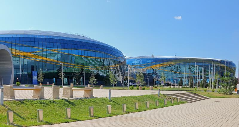 L'arena del palazzo del ghiaccio a Almaty Almaty immagine stock libera da diritti