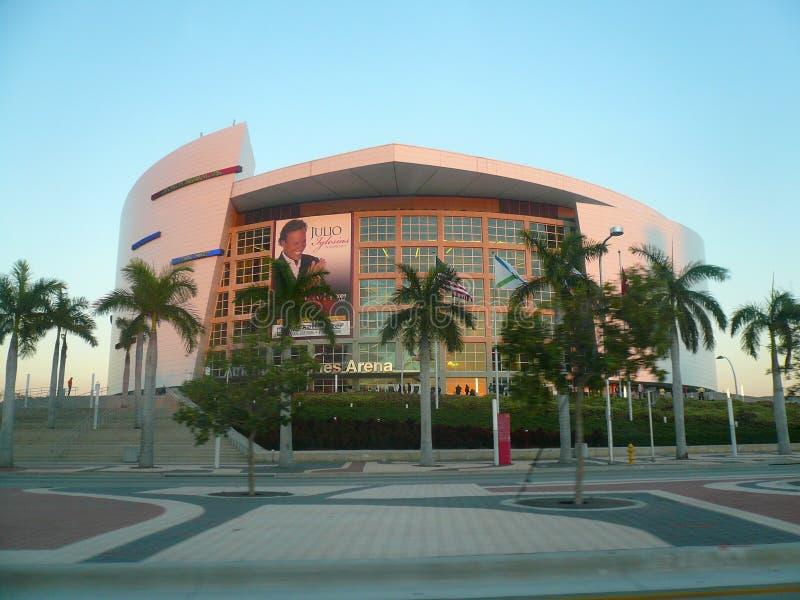 L'arena di American Airlines, casa del Miami Heat fotografia stock libera da diritti
