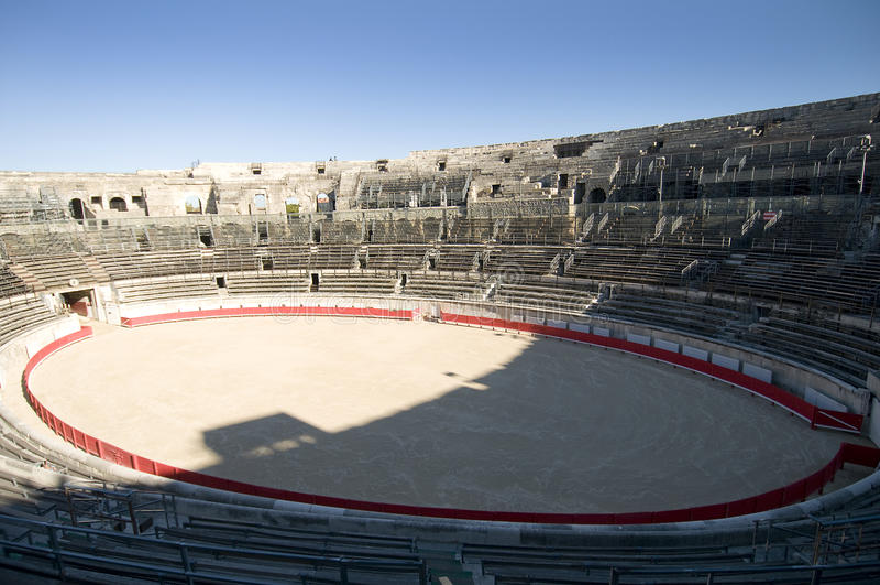L'arena di Arles, Francia fotografia stock
