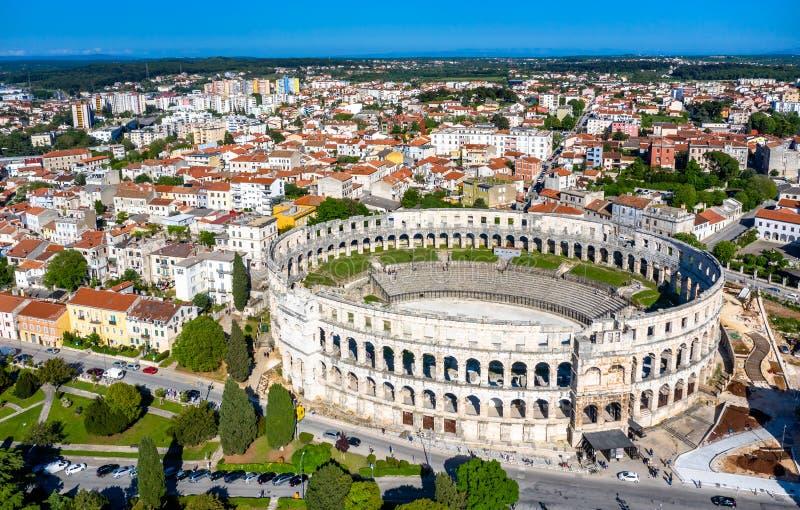 L'arena di Pola in Croazia fotografie stock libere da diritti