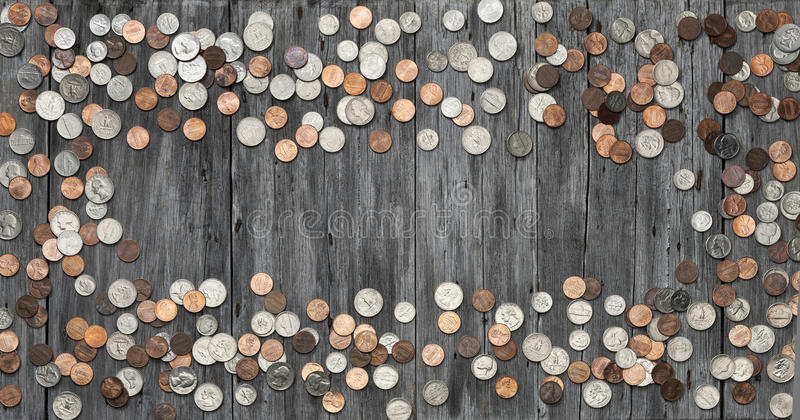 L'argent de cadre invente le fond images stock