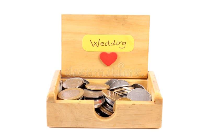 L'argent du mariage photographie stock