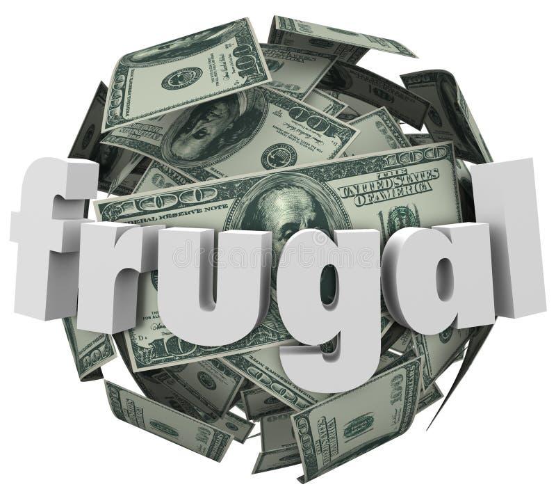 L'argent liquide bon marché d'économie de boule économe d'argent réduisent des dépenses illustration de vecteur