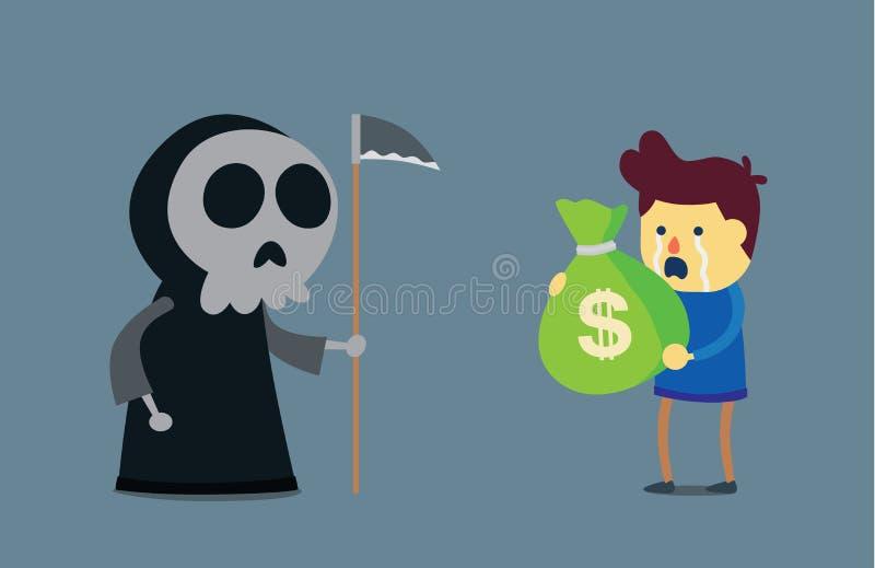 L'argent ne peut pas acheter la vie illustration de vecteur
