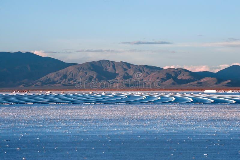 L'Argentina di nord-ovest - paesaggio del deserto di Grandes delle saline fotografia stock libera da diritti