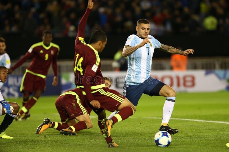 L'Argentina - il Cile - Muro Icardi immagine stock