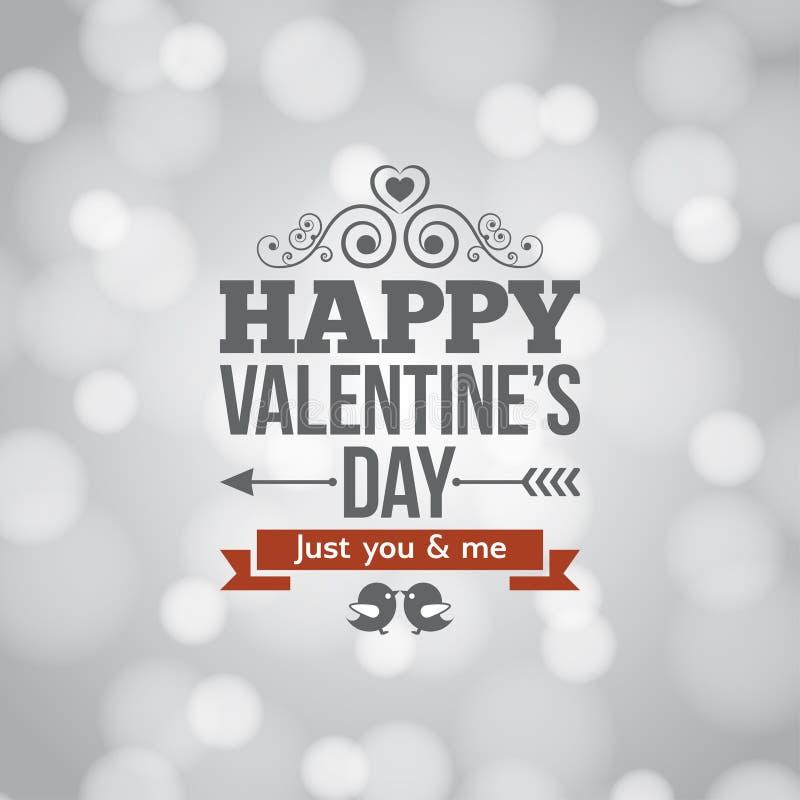 L'argento del giorno di biglietti di S. Valentino accende il fondo d'annata royalty illustrazione gratis