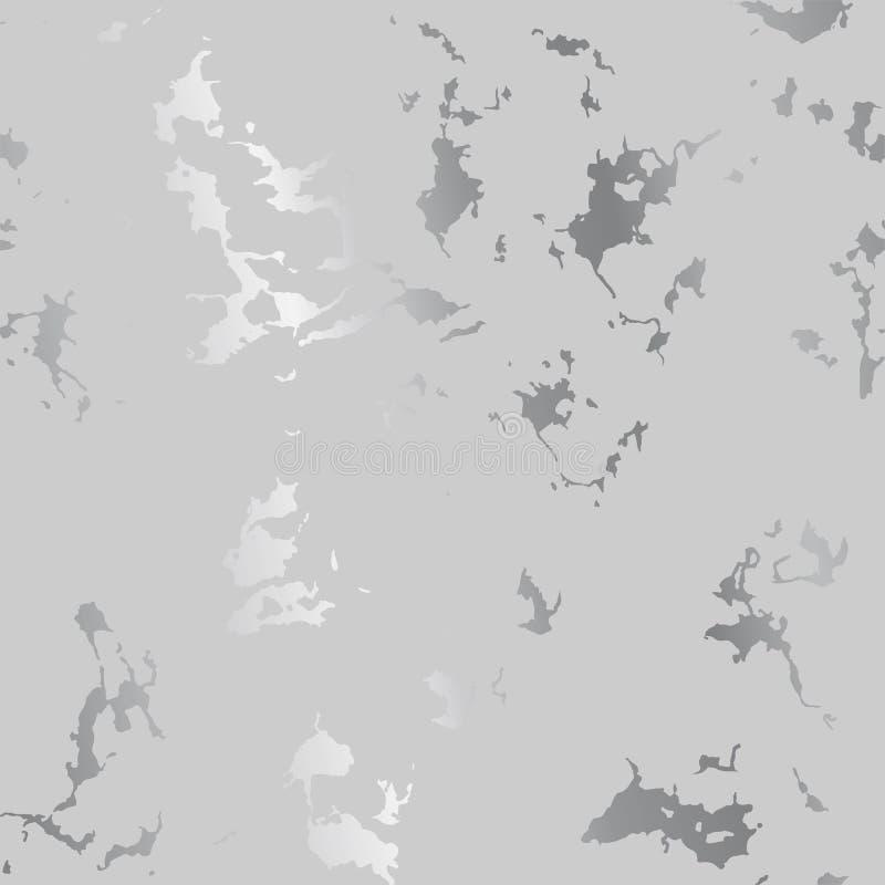 L'argento schizza i punti su gray, fondo lussuoso moderno illustrazione di stock