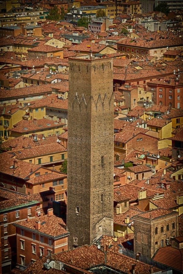 L'argilla italiana tradizionale copre la vecchia città dalla cima fotografie stock libere da diritti