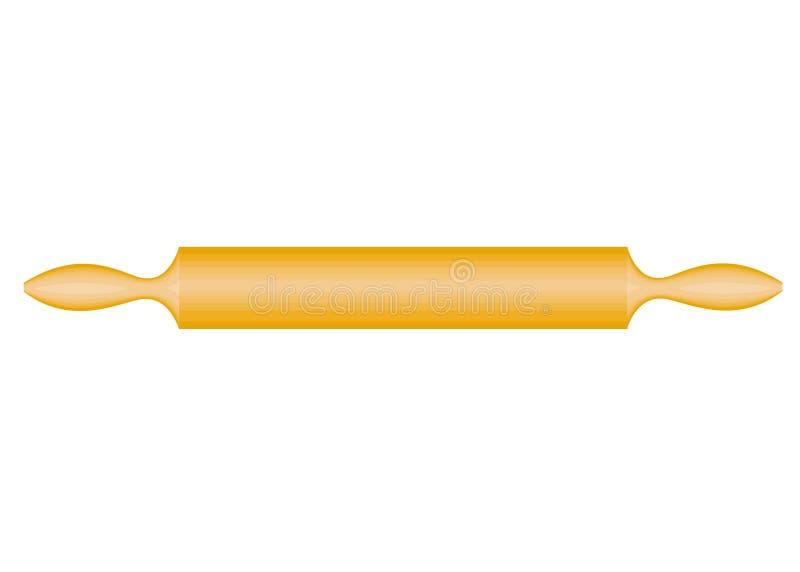 L'argomento di utensili della cucina Un matterello è necessario nella cucina nella cucina srotolare la pasta Illustrazione di vet illustrazione vettoriale