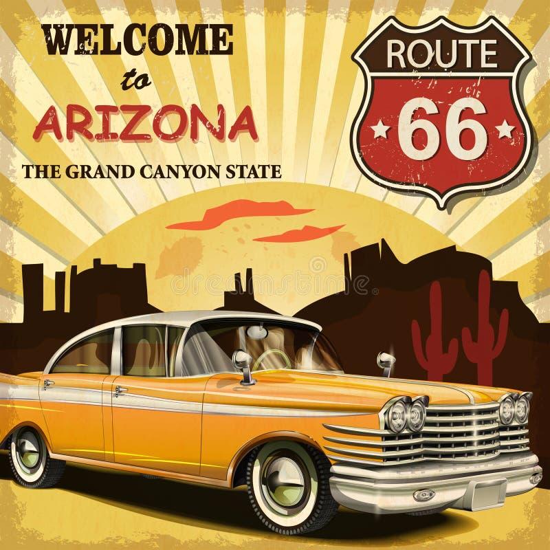 l'Arizona à accueillir illustration de vecteur