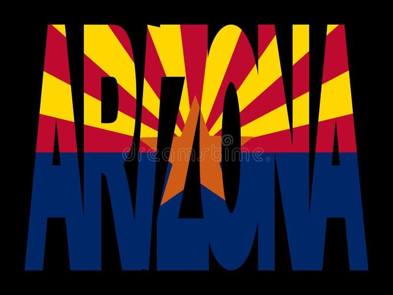l'Arizona avec leur indicateur illustration de vecteur