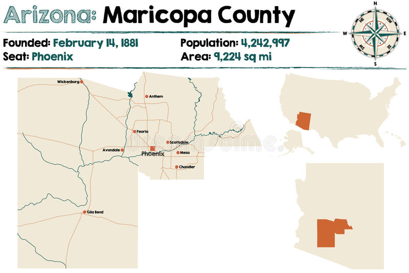 L'Arizona : Le comté de Maricopa illustration de vecteur