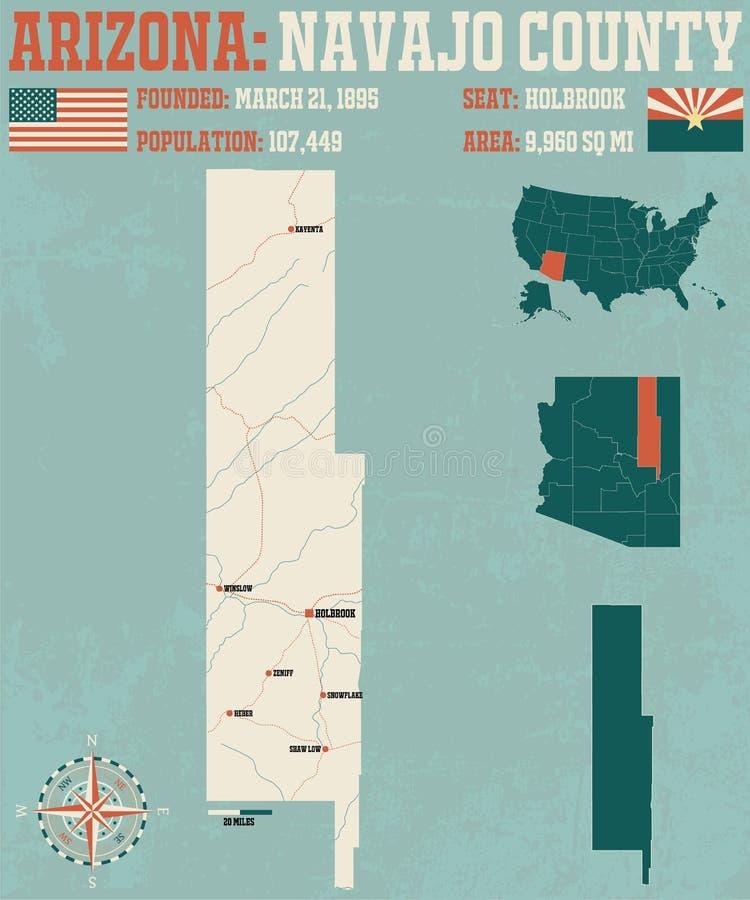 L'Arizona : Le comté de Navajo illustration stock