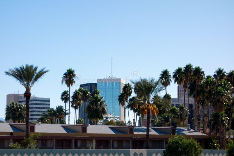 L'Arizona major la città di Tucson, sud-ovest americano fotografia stock libera da diritti