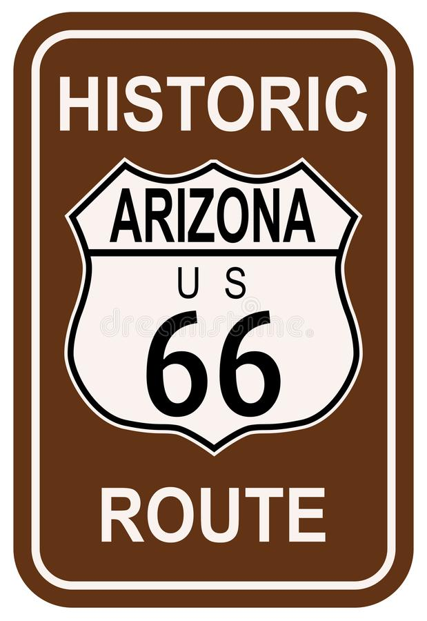 L'Arizona Route 66 historique illustration de vecteur