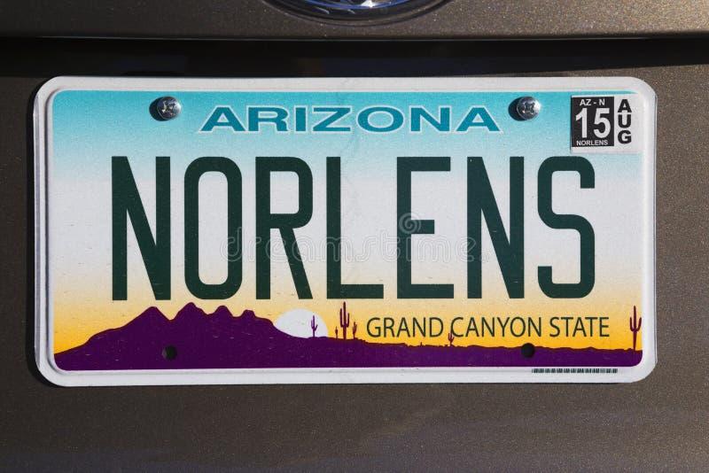 L'Arizona, Tucson, U.S.A., targa di immatricolazione di vanità dice New Orleans immagine stock