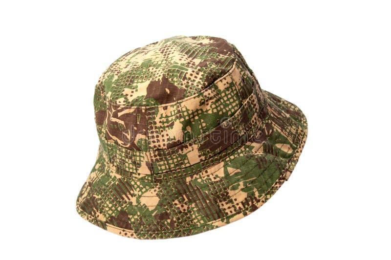 L'armée a camouflé le chapeau, d'isolement sur le fond blanc photos stock