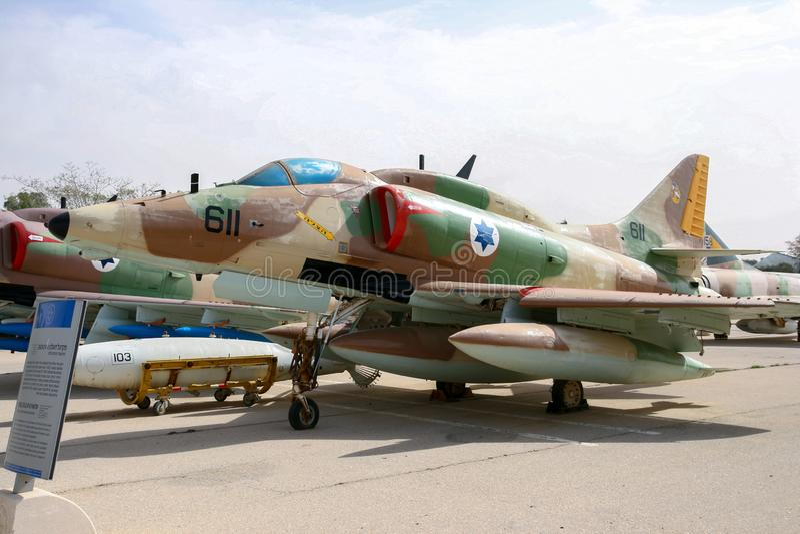l'Armée de l'Air israélienne A-4 Skyhawk images stock