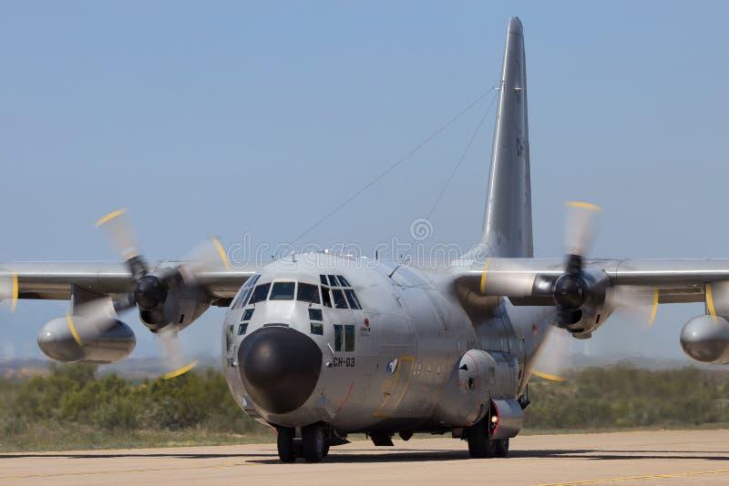 L'Armée de l'Air belge C-130 Hercule photos libres de droits