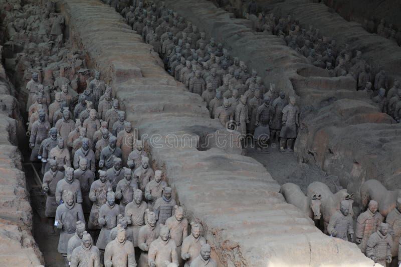 L'armée de terre cuite de Xian image stock