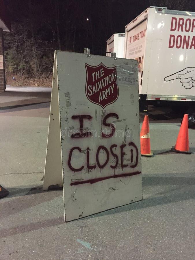 L'armée du salut est fermée photos stock