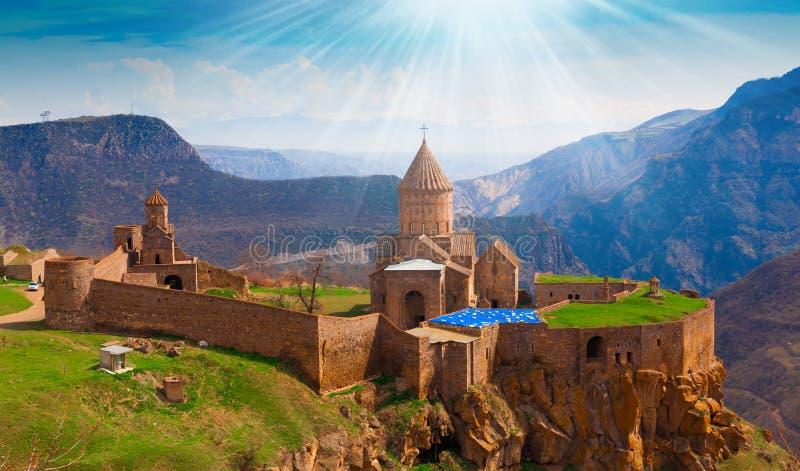 l'arménie Monastère Tatev Jour ! image libre de droits