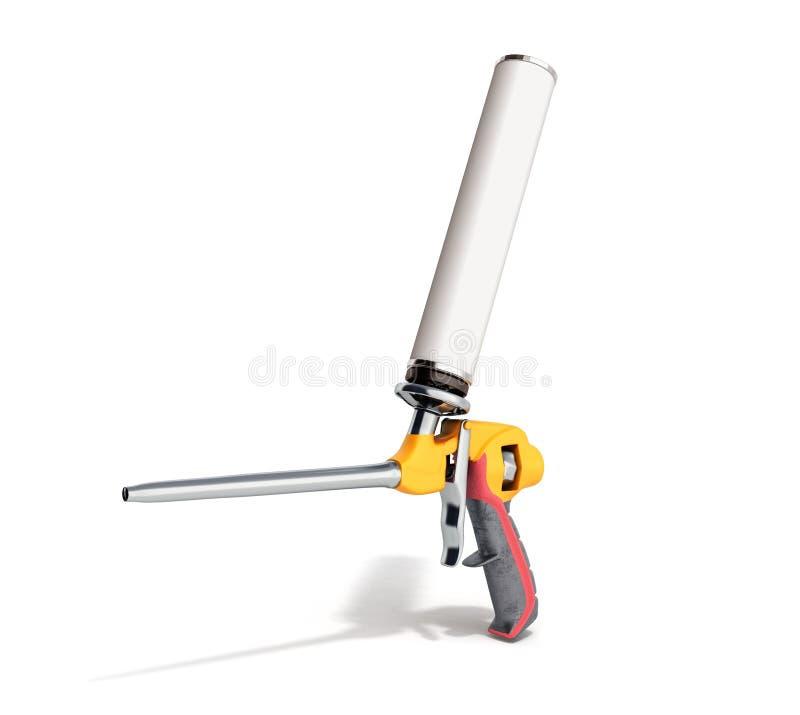 L'arme à feu de mousse sur le fond blanc 3d rendent illustration stock