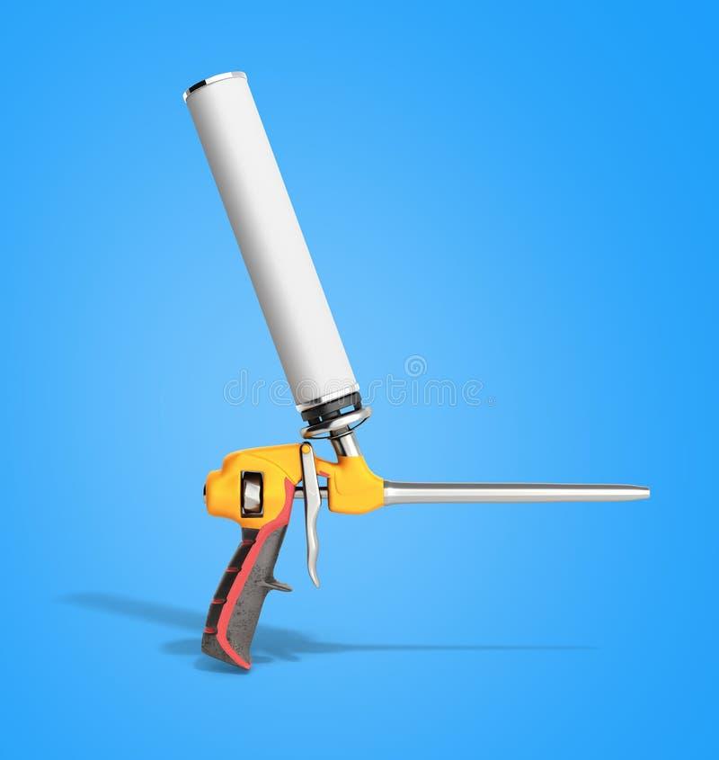L'arme à feu de mousse sur le fond bleu 3d rendent illustration de vecteur