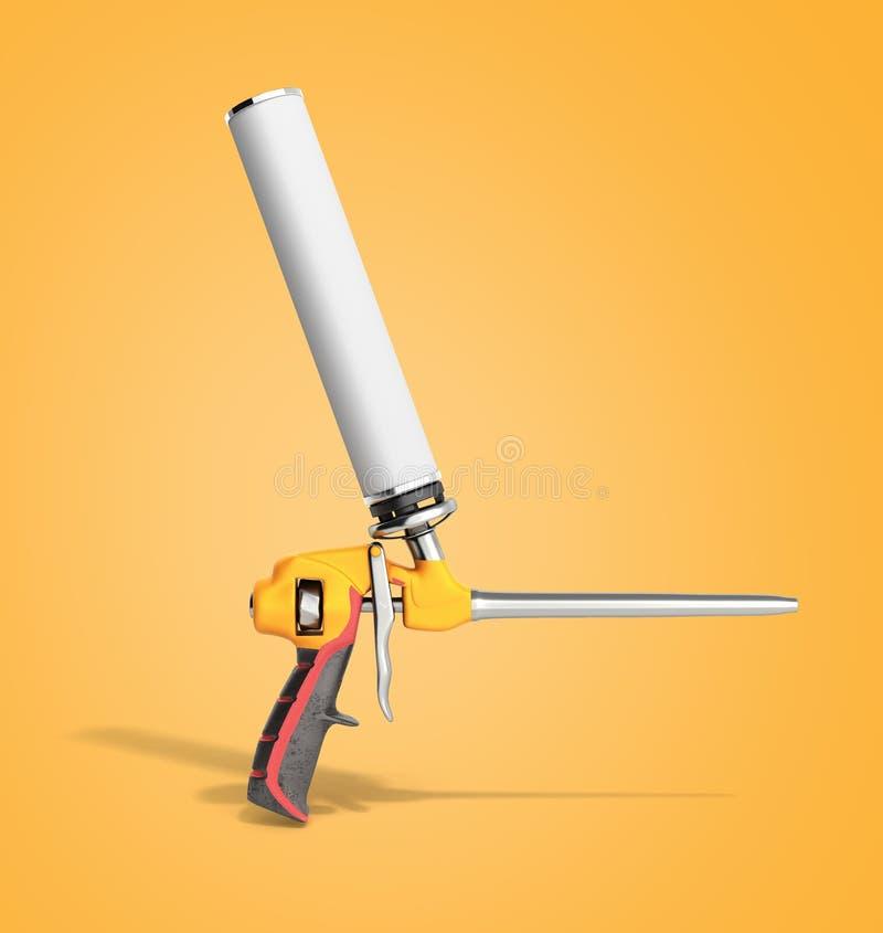 L'arme à feu de mousse sur le fond 3d de couleur rendent illustration libre de droits