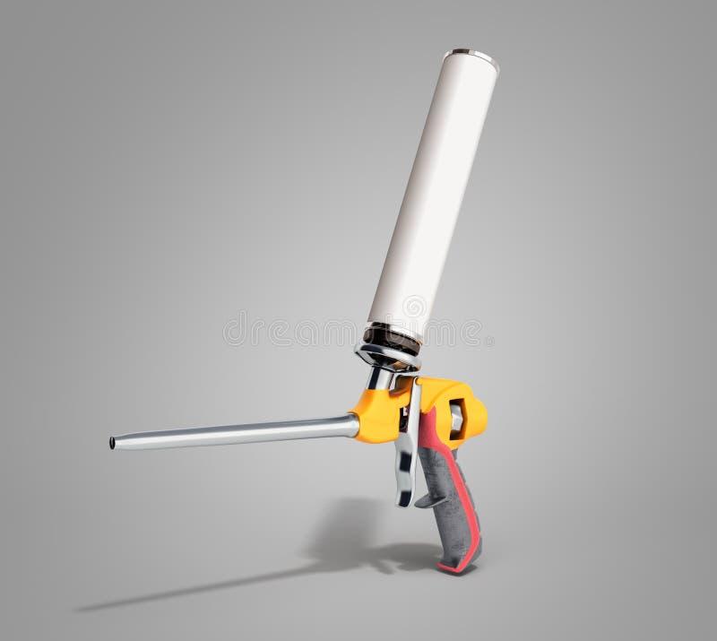 L'arme à feu de mousse sur le fond gris 3d de gradient rendent illustration stock